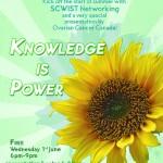 "Invitation – SCWIST Networking Event & ""Knowledge Is Power"" Presentation (June 1, 2011)"