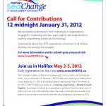 Jan 31 – CCWESTT – Call for Contributions Deadline