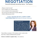 Nov 6 : SCWIST Personal Branding Workshop #4: The Art of Negotiation